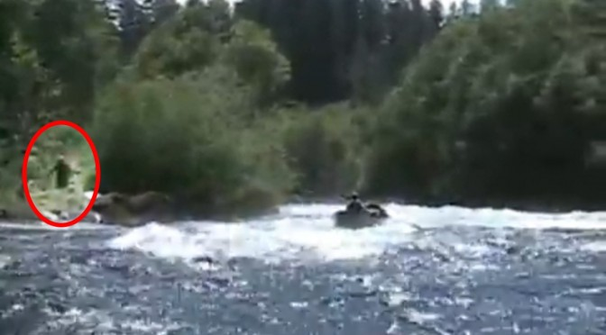 Is that a sasquatch loitering by the river? (Source: Bigfoot Field Researchers Organization)